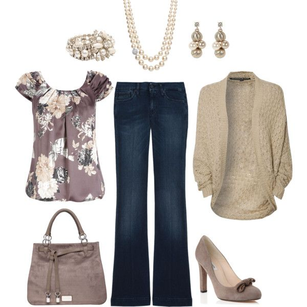 I'm normally not into floral but I love this color and pattern.  Casual Work Outfit for Fall!