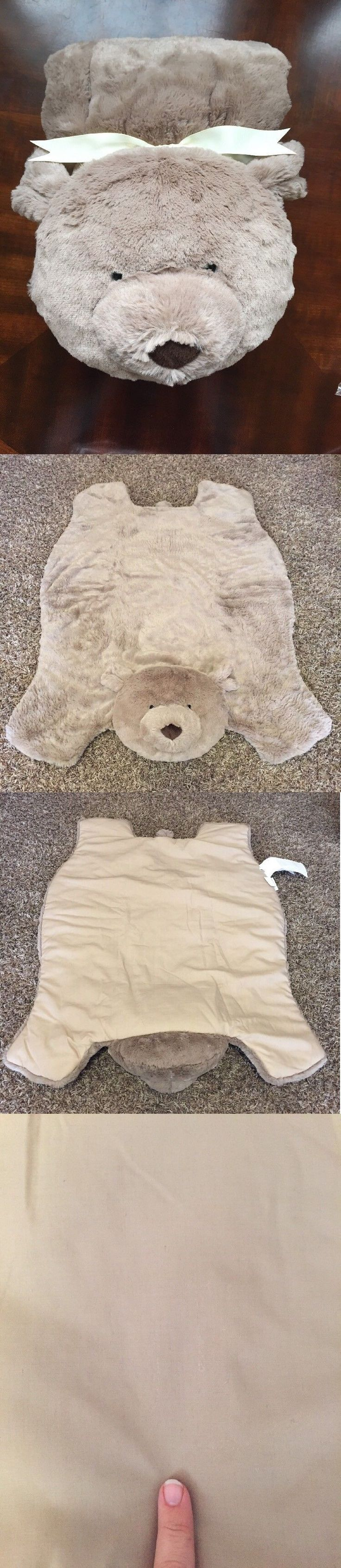 Baby Gyms and Play Mats 19069: New Pottery Barn Kids Baby Bear Plush Play Mat Brown -> BUY IT NOW ONLY: $35.99 on eBay!
