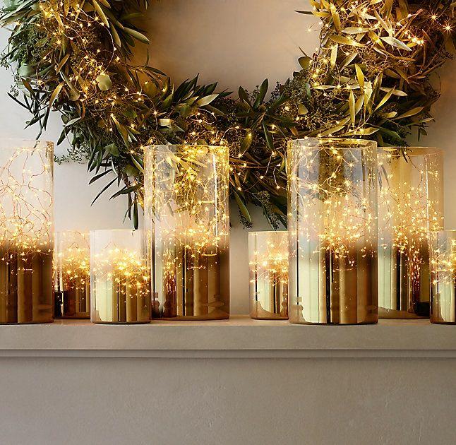 Jars of fairy lights