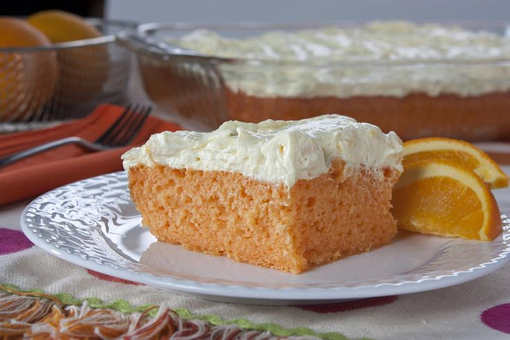 Yum! Orange Dream Cake that tastes like it was made from scratch. You may start this off with a cake mix, but nobody will ever know!