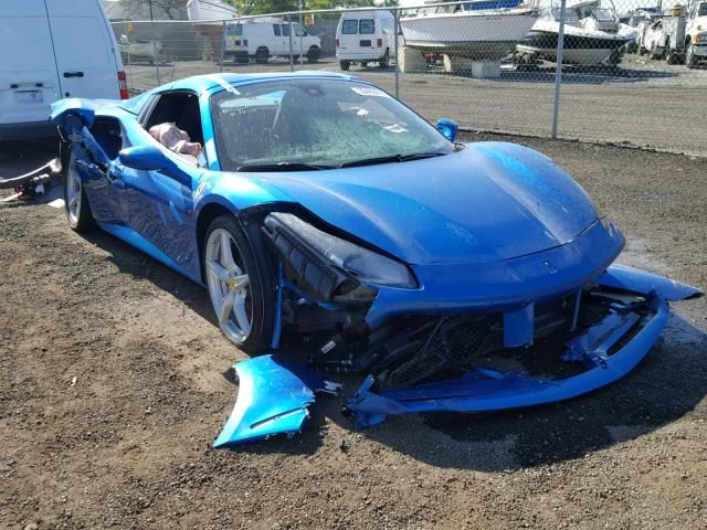 Salvage 2017 Ferrari 488 Spider With Images Salvage Cars Super Cars Ferrari