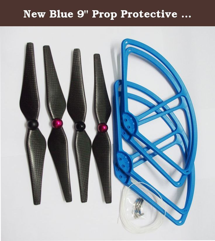"""New Blue 9"""" Prop Protective Guard and 9443 Carbon Fiber Self-Tightening Propellers Kits For DJI Phantom 2 Vesion. Specifications: Protective Guard Bumper: Product Name: DJI Phantom 2 vesion Protector Guard Bumper Color: Blue Propellers: Product: DJI Phantom 2 Vesion Replacement Self-Tightening Carbon Fiber Propeller Propellers fit for DJI Phantom 2.0 Vesion Size: 9443 Color: black Length: 9.4inch Pitch: 4.3 inch Material: Carbon Fiber Strong and light weight, easy to install 100% Brand…"""