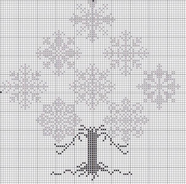 Новогодняя вышивка. Снежинки.