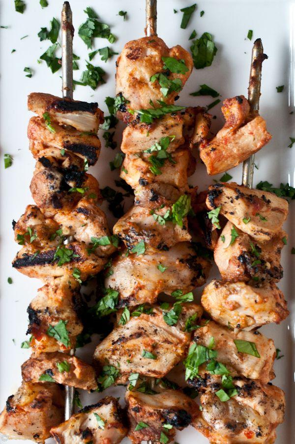 ... Chicken, Marinated Chicken, Chicken Skewers, Chicken Kabobs, Grilled