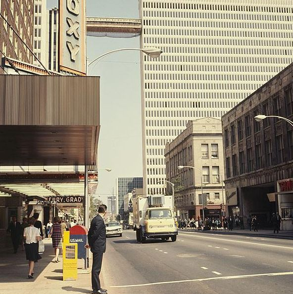 1967 view of Peachtree Street, in the area and time I had ...