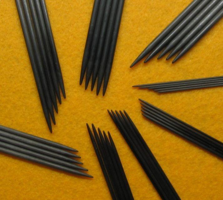 Blackthorn Needles. Strømpepinner. 15 cm lange. Str 2,25mm, 2,5mm og 3mm