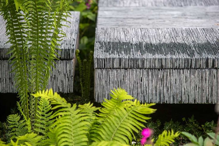 The Brewin Dolphin Garden at the Chelsea Flower Show 2015 / RHS Gardening ... slate tiles cut and put on their sides