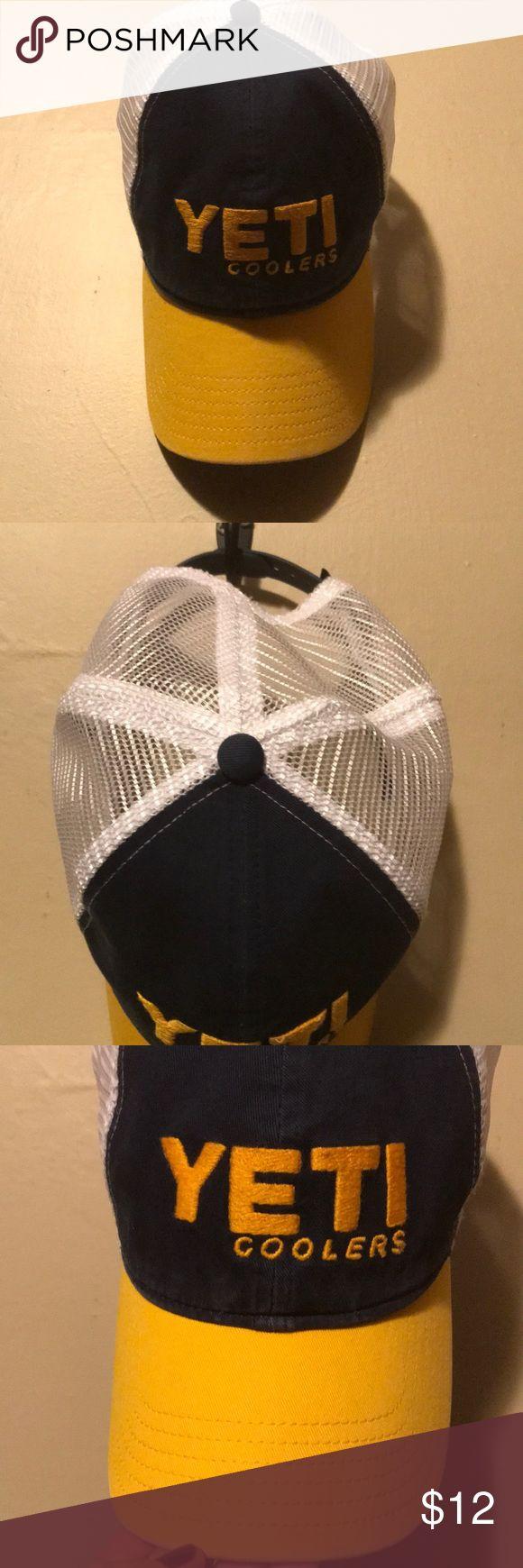 NWOT men's Yeti hat 💙💛 Brand new Yeti low pro trucker hat. yeti Accessories Hats