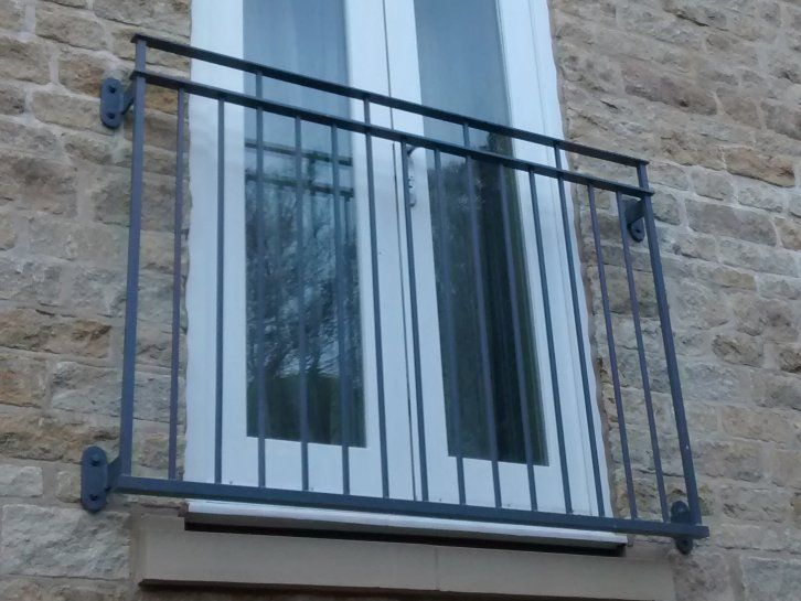 galvanized and polyester powder coated mild steel Byron Juliette Balcony