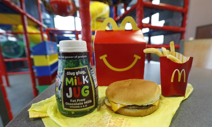 Restaurant chain wants to cut down on calories, fat and sugar Health advocates have linked Happy Meal to childhood obesityMcDonald's will soon banish cheeseburgers and chocolate milk from its Happy Meal menu in an effort to cut down on the calories, sodium, saturated fat and sugar that kids consume a