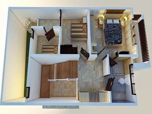 gambar desain rumah sederhana 3 kamar tidur