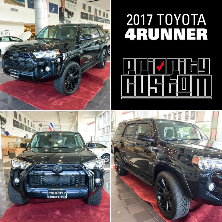 It's Priority Custom Friday and you do not want to miss out on the chance to check out this #PriorityCustom 4Runner in person! Custom wheels, blackout kit, and more. Make your next vehicle a Priority Custom. Ask one of our Sales Consultants or Delivery Coordinators about how you can customize your current or future ride! #4Runner #Toyota #ToyotaNation #PriorityToyota #hrva #customtruck #4RunnerLove #custom #ToyotaStrong