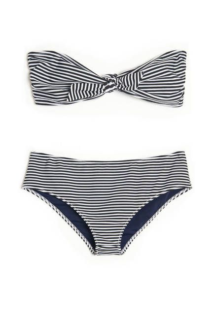 ELLE › FASHION › TREND REPORTS      100 SWIMSUITS FOR EVERY BODY TYPE: 3.1 Phillip Lim Stripe Print Bandeau Bikini {petite}