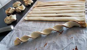 Släng ihop fikat på nolltid med färdig smördeg och nutella. Snurrorna blir härligt frasiga och ljuvligt goda! Ca 14 st smördegsbullar 2 st stora smördegsplattor Ca 1 dl nutella Garnering: Ägg till pensling Pärlsocker Gör såhär: Värm ugnen till 225°. Värm nutellan några sekunder i micron så blir den enklare att bre på smördegen. Bred nutellan över en smördegsplatta, lägg den andra smördegen över. Skär ut remsor. Snurra remsorna och forma till en snurra. Nyp ihop änderna lite så håller…