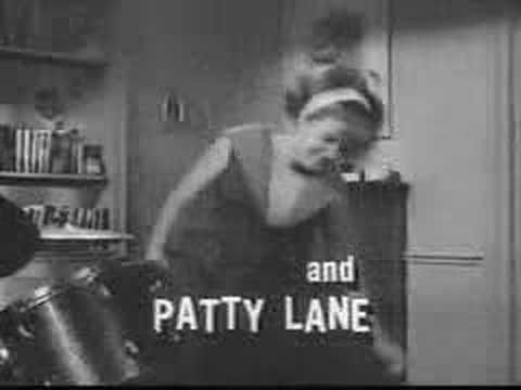 """Patty Duke Show theme...""""What a crazy pair, but they're cousins, identical cousins..."""""""