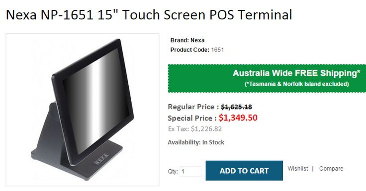 "Buy Branded Nexa NP-1651 15"" Touch Screen POS Terminal at $1,349 Instead of $1,625. OnlyPOS offer FREE Shipping across Australia..!  http://www.onlypos.com.au/nexa-np-1651-pos-terminal"