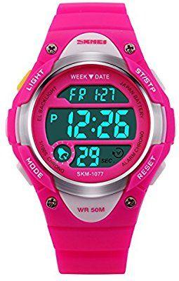 036dd73a5c3e Hiwatch Reloj para Niñas Deportivos Impermeable 164 pies LED Digital a  Prueba de Agua Relojes para
