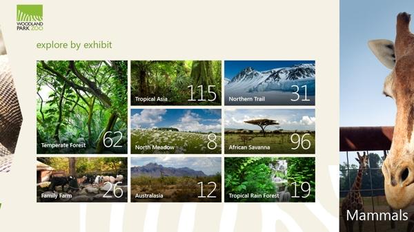 Woodland Park Zoo For Windows 8 by Ken Disbennett, via Behance