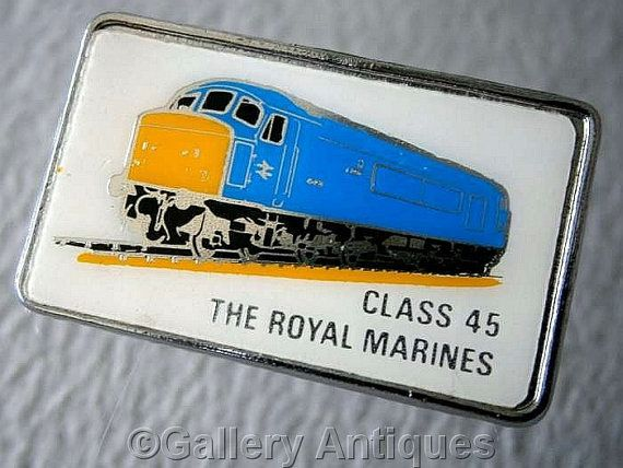 Vintage retro Class 45 The Royal Marines Chrome by GalleryAntiques