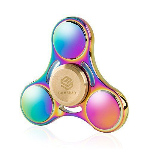 Spinner Colorful Rainbow Aluminum Finger Spinner Fidget EDC Newest 2017 Toy Xmas #SAMSHAO