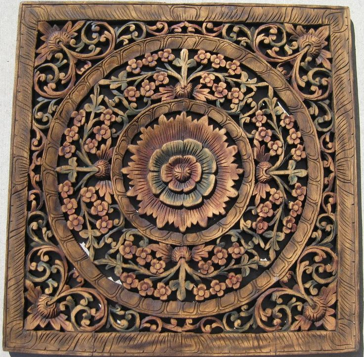 Hand Carved Wood Panels | 2ft x 2ft multi color teak panel - 14 Best Carved Wooden Panels Images On Pinterest Carved Wood