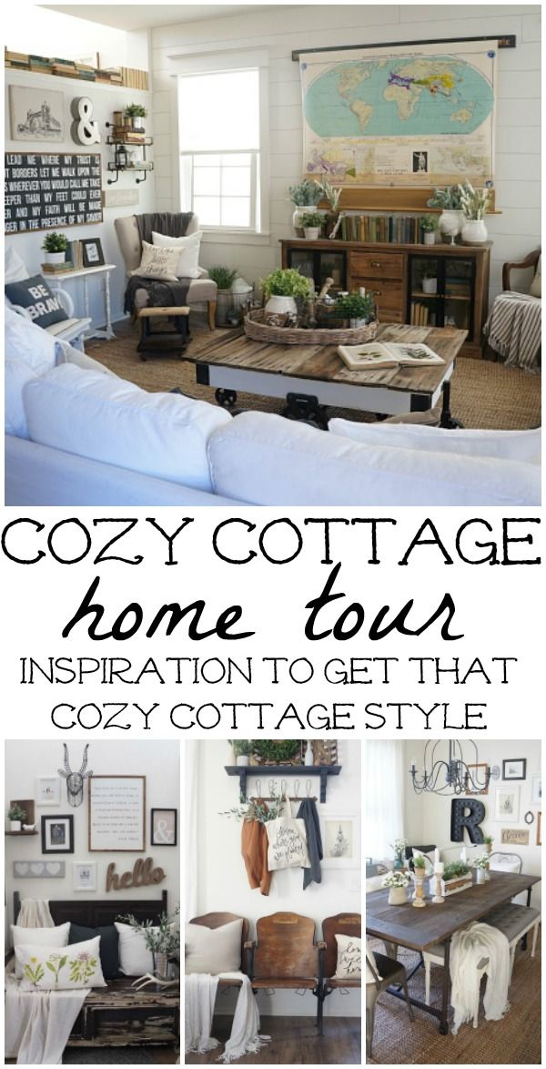 Cozy Cottage Home tour - Come tour this lovely cozy cottage filled with neutral…