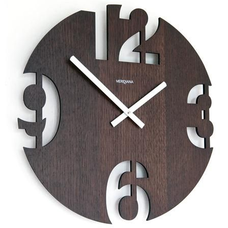 Meridiana Wall Clock 299, Wenge Wood