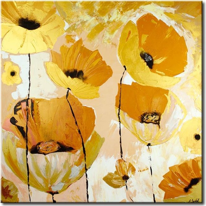 Cuadro El oro de las amapolas es un ejemplo del cuadro que con sus colores nos pondrá de buen humor y nos llevará a los dias soleados ☼ Comprueba como queda en tus paredes ツ