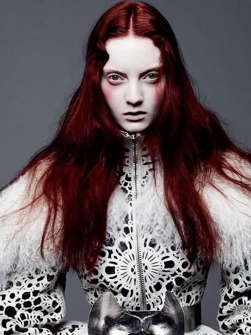 Alexander McQueen F/W 2012; Photo by Thomas Whiteside 'Too Much Rouge'