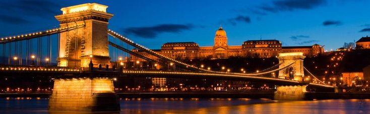 One of the most stunning views in Budapest with the Palace in the background.