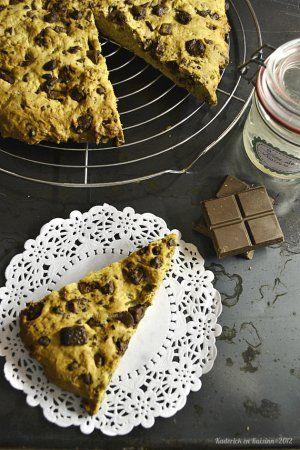 Cookie géant à la crème de marron et chocolat au caramel