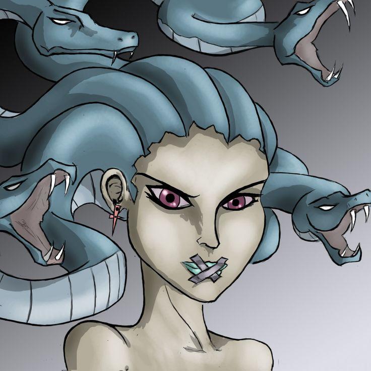 Seductive stone sorceress...Medusa