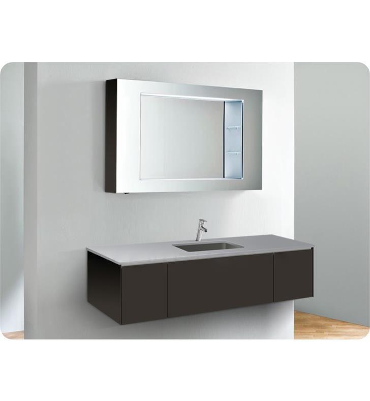 Robern Vf60pdc V14 60 1 4 Wall Mount Bathroom Vanity With Center Plumbing And Two Side Drawers Bathroom Bathroom Vanity Vanity