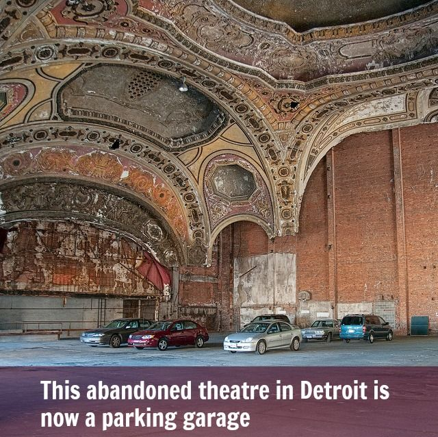 An Abandoned Theatre In Detroit. Now A Parking Garage