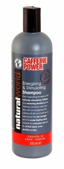 NATURAL WORLD CAFFEINE POWER ENERGISING & STIMULATING SHAMPOO 500ML