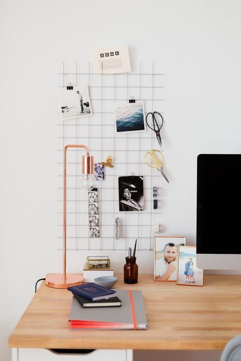 Diy Wand Organizer Fur Mehr Ordnung Am Schreibtisch Buro Deko