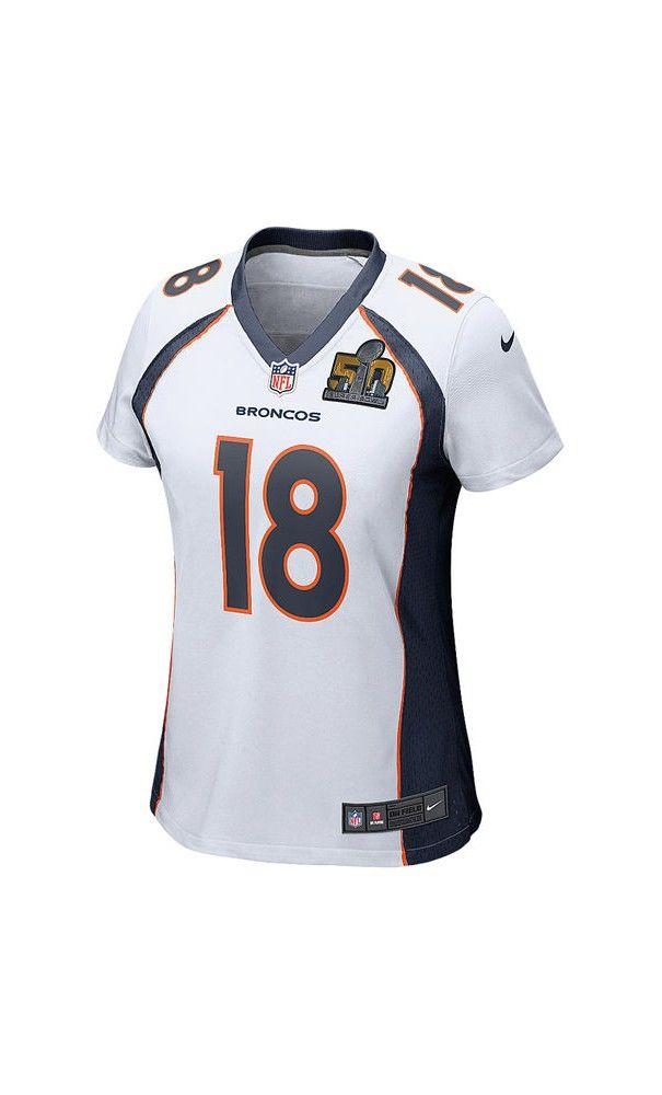 NFL Women Game Jersey ThanksgivingDay blackfridaysale. Denver Broncos Peyton  ManningNfl GearSuper BowlBlack ... Womens Nike Denver Broncos 18 Peyton  Manning ... 37d8dbb95