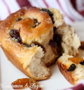 An iconic British recipe, Chelsea Buns combine raisins, cranberries ...