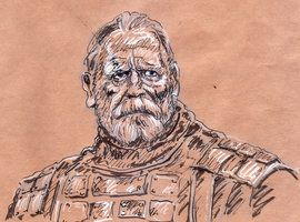 Game of thrones fan art lord Mormont by curiosity2craft
