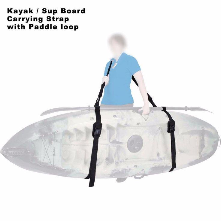 Heavy Duty Sup Paddle Board Kayak Boat Carrying Shoulder Strap Adjustable