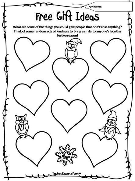 Free resource for showing acts of love!