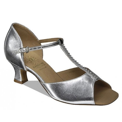 "Supadance 1529w Coag  Classic Latin T-Bar Sandal for the wider foot. Wide Fitting  Available in 2"" Social Heel (2"" Cuban & 2½"" Slim Heels can be made to order).  Price: 92.30€"