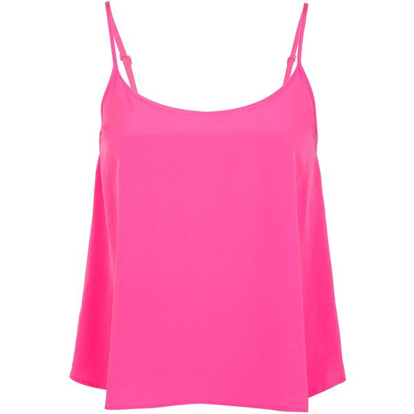 Miss Selfridge Petites Pink Cami Top (€24) ❤ liked on Polyvore featuring tops, shirts, tank tops, tanks, blusas, pink, petite, pink shirt, pink camisole and cami tank tops