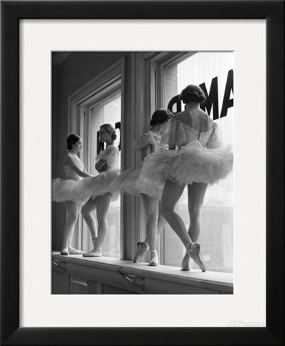 Ballerinas on Window Sill in Rehearsal Room at George Balanchine's School of American Ballet Photographic Print by Alfred Eisenstaedt at AllPosters.com