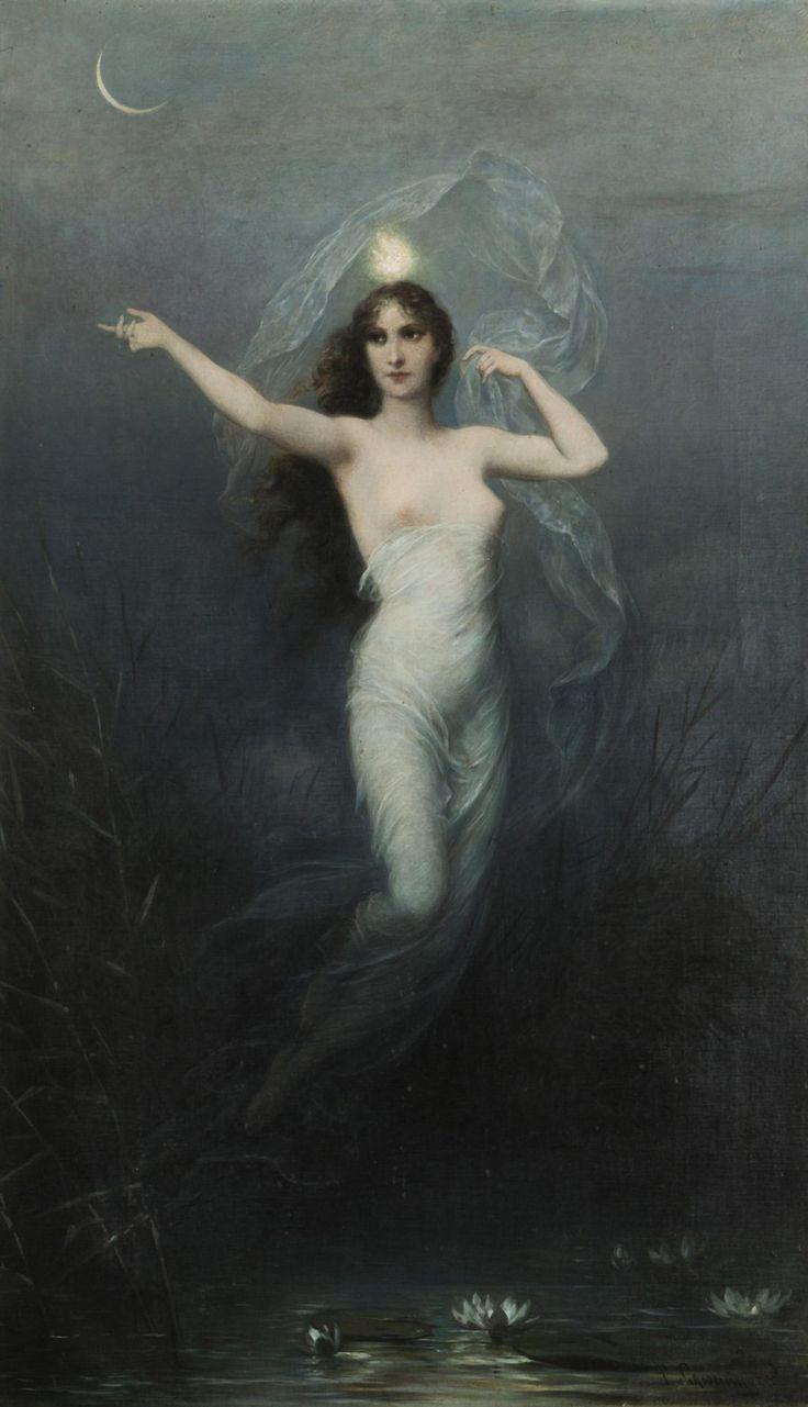 Selene/Artemis/Diana (Goddess of the Moon). http://en.wikipedia.org/wiki/Selene