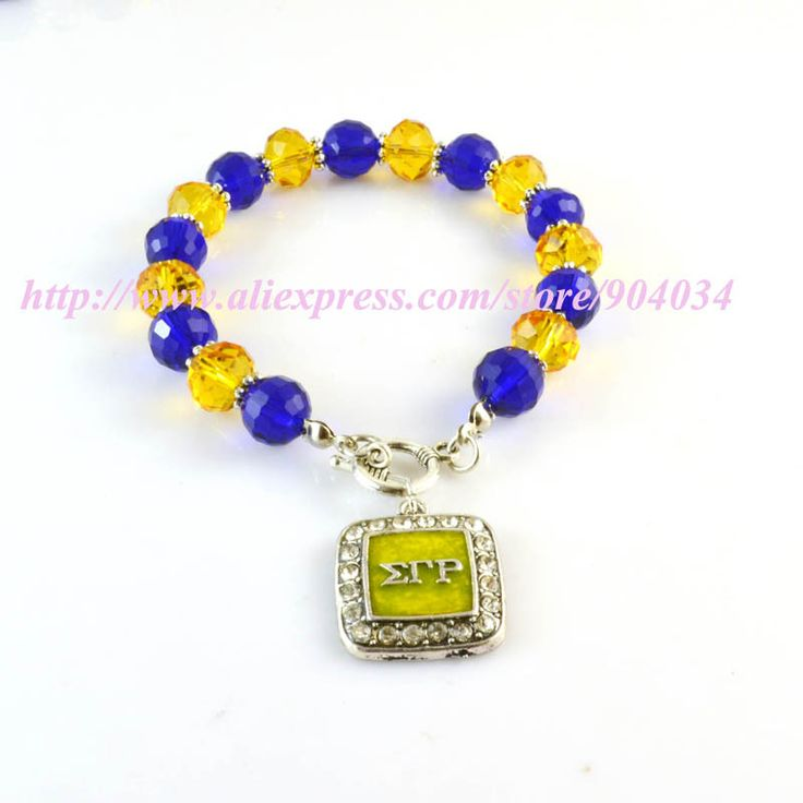 Sigma Gamma Rho Sorority  charm  crystal bead  Bracelet SGR sliver  charm toggle clasps bracelet bangle 3pcs 1 lot