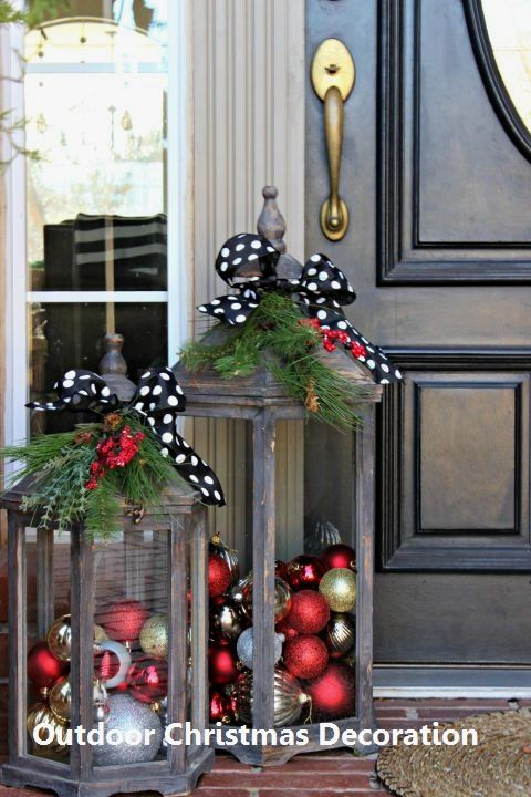 New Outdoor Christmas Decoration #outdoorchristmasdecor - 14 Awesome Ways For You To Decorate Your Outdoors For Christmas: 1