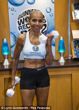 Ernestine Shepherd is 74 and holds the Guinness Book of World Record as the oldest competitive female bodybuilder ever. Check her six-pack!