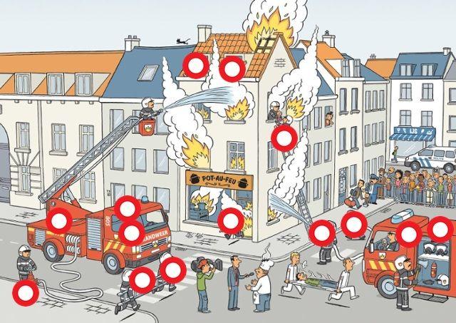 Vuur blussen met Flip de Beer, Liedje: de brandweer; oei ... by juf Anja