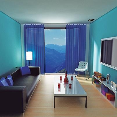Si tu habitación es pequeña pinta las paredes con tonos claros y fríos, así los muros se alejan visualmente y se verá más amplio.
